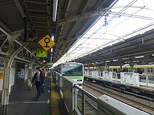 Yoyogi Station - Yamanote line platform, 2016
