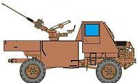 Ystervark single 20mm cannon platform