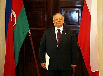 Hasan Hasanov - Image: Złożenie listów uwierzytelniających przez ambasadora Azerbejdżanu (1)