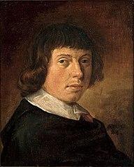 Self portrait of Vincent Laurensz. van der Vinne (1628-1702), 1651