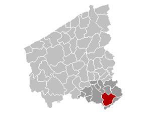 Zwevegem - Image: Zwevegem Location