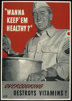 """WANNA KEEP 'EM HEALTHY^ OVERCOOKING DEST..."