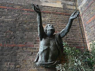 St Alban's Church, Holborn - 'Jesus Being Raised From the Dead' by Hans Feibusch