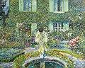 'The Garden Pool' by Frederick Carl Frieseke, c. 1913.jpg