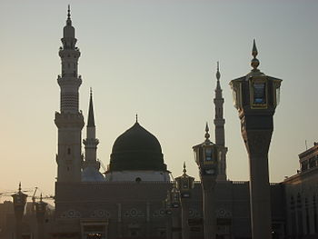 English: Tomb of Muhammad in Madinah, Saudi Arabia