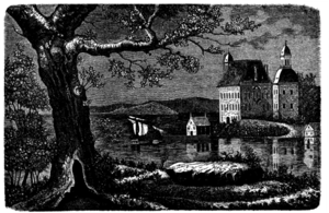 Åkerö Manor - Illustration of Åkerö Castle