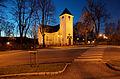 Ærverdige Drøbak kirke i den blå timen.jpg