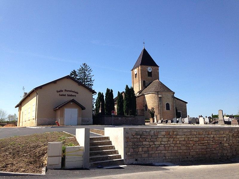 Vue de l'église de Replonges