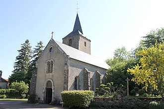 Authiou - The church of Saint-Sulpice, in Authiou