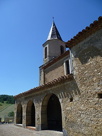 Montesquieu-Avantès - The church in Montesquieu-Avantès