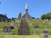 Église et cimetière à Pointe-du-Domaine, Île Perrot,Qc. - panoramio.jpg