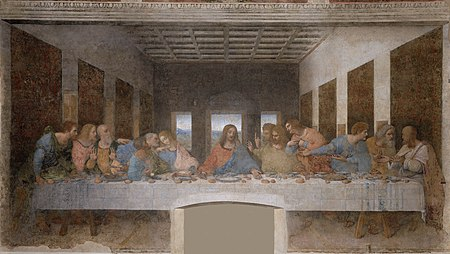 Depictions of the Last Supper in Christian art have been undertaken by artistic masters for centuries, Leonardo da Vinci's late 1490s mural painting in Milan, Italy, being the best-known example