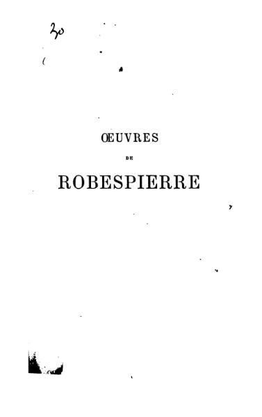 File:Œuvres de Robespierre.djvu
