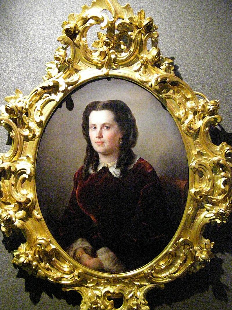 Аполлинарий Горавский.  Портрет неизвестной.  1862.jpg