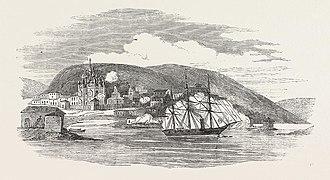HMS Miranda (1851) - HMS Miranda bombards Kola