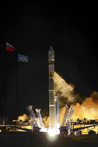 Soyuz-2-1v - Image: Воздушно космические силы провели успешный пуск ракеты носителя «Союз 2» с космодрома Плесецк 04