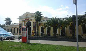 Adler railway station - Image: Вокзал Адлер старое здание
