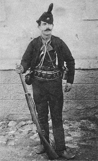 Ilija Trifunović-Birčanin - In Chetnik gear, 1907