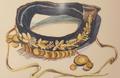 Женское налобное украшение золотого шитья с золотыми монетами. Высокая Армения. XIX в..png