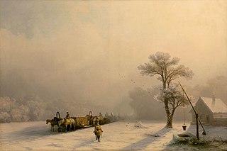 Winter carts en route