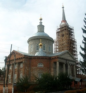 Rylsk, Russia - Uspensky Cathedral in Rylsk