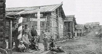 Pomors - Pomor village, early 20th century