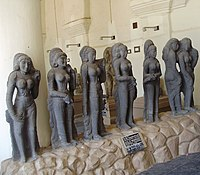 seven stone women sculptures