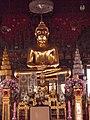 พระประธานในพระอุโบสถ วัดสระเกศ Principal Buddha of Wat Saket.jpg