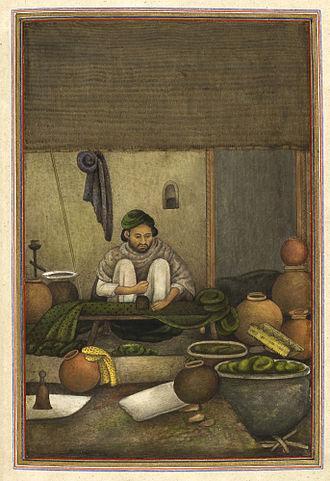 Chhipa - Chhipa, a cloth printer from Tashrih al-aqvam (1825)