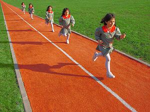 English: Running