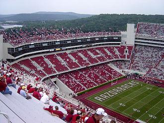 Donald W. Reynolds Razorback Stadium - Image: 09 02 06 RRS Ozarks