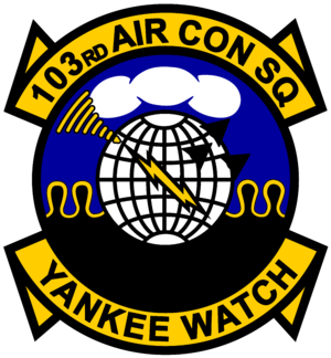 103rd Air Control Squadron - Official patch and logo for the 103rd Air Control Squadron, Connecticut Air National Guard.