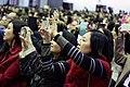 12.24 出席「靜修女中百年校慶」的民眾們以手機拍攝副總統伉儷 (31024402663).jpg