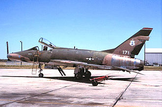 122d Fighter Squadron - North American F-100D Super Sabre 56-3171, 122nd TFS, about 1975