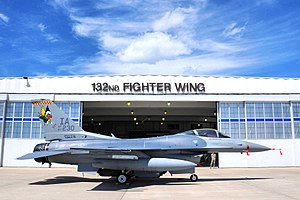 Iowa Air National Guard - 124th Fighter Squadron - General Dynamics F-16C Block 25C Fighting Falcon, AF Ser. No. 84-1230, Des Moines ANGB.  The 124th FS is the oldest unit in the Iowa Air National Guard, having over 60 years of service to the state and nation