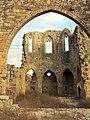 174 Ruïnes del monestir de Vallsanta (Guimerà), façana oest i absis.jpg
