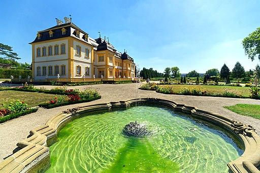 Schlosses Veitshöchstheim und Hofgarten