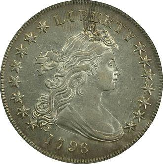 Draped Bust dollar - Image: 1796 dollar obverse