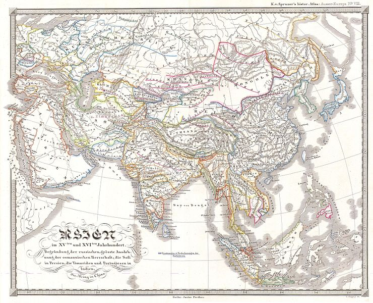 File:1844 Spruneri Map of Asia in the 15th and 16th Centuries (Ming China) - Geographicus - AsiaXVXVI-spruneri-1855.jpg