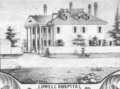 1850 hospital Lowell Massachusetts detail of map by Sidney and Neff BPL 11051.png