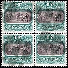 United States 24-cent stamps with inverted center from 1869