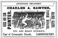 1878 Sawyer advert Cambridge Massachusetts.png