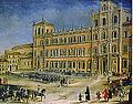 18th century canvas painting of the Ducal Palace of Modena by an unknown artist.jpg