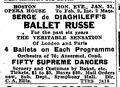1916 Diaghileff BostonOperaHouse BostonGlobe January20.png