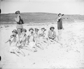 1919. Members of the Concert Party, GHQ The British Army of the Black Sea, 28th Division, after a bathe in the Sea of Marmora - 51012432787.png