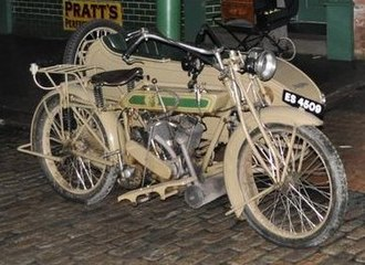 Associated Motor Cycles - 1922 Matchless Model H motorcycle combination (ES 4509)