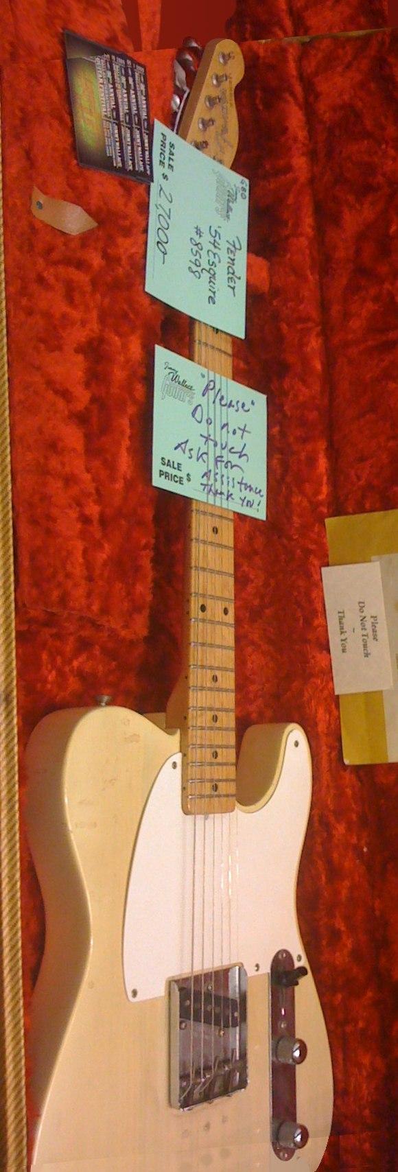 1954 Fender Esquire ($27,000), Vintage Guitar show, SXSW2009 (clip)