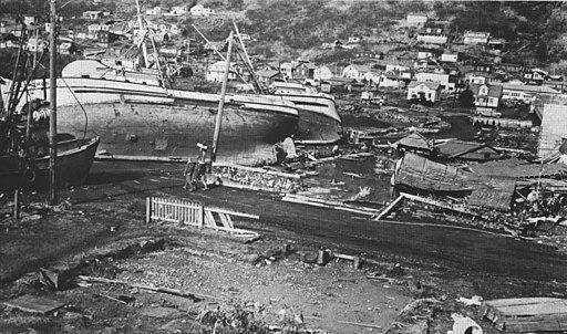 1964 Alaska earthquake destructions at Kodiak