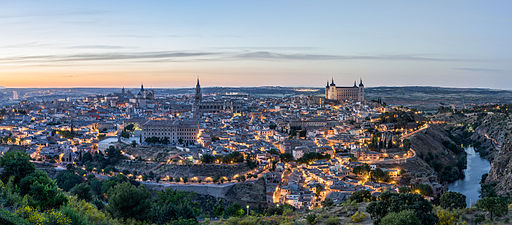 Sunset over Toledo Spain