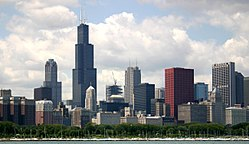 Skyline of City of Chicago